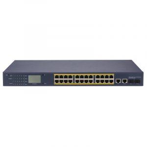 24 kanalų PoE LCD tinklo šakotuvas